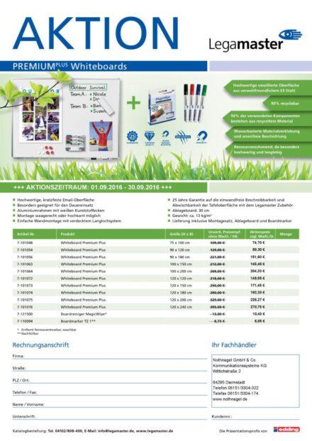 AKTION: Premium Whiteboards von Legamaster ab 74,70€*