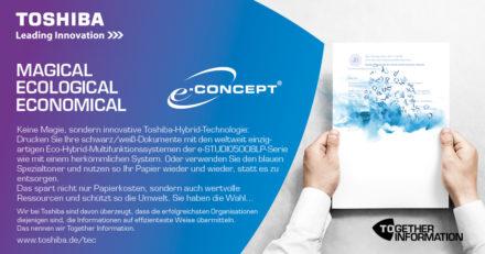 Eco-Hybrid-MFPs e-STUDIO5008LP-Serie mit Auszeichnung